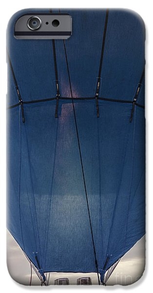 Hot Air Balloon iPhone Cases - Firing Up The Blue Balloon iPhone Case by Thom Hanssen