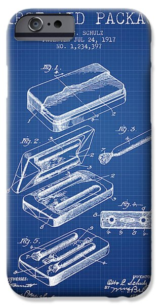 First iPhone Cases - First Aid Package Patent from 1917 - Blueprint iPhone Case by Aged Pixel