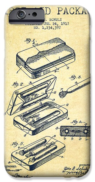 First iPhone Cases - First Aid Package Patent from 1917 - Vintage iPhone Case by Aged Pixel