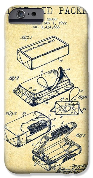 Firsts iPhone Cases - First Aid Packet Patent from 1922 - Vintage iPhone Case by Aged Pixel