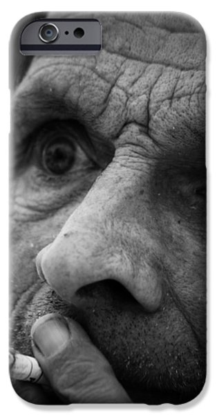Portrait Of Old Man iPhone Cases - First Choice  iPhone Case by Jerry Cordeiro