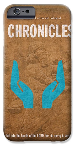 First Chronicles Books Of The Bible Series Old Testament Minimal Poster Art Number 13 iPhone Case by Design Turnpike