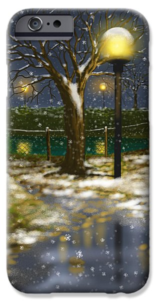Winter Light iPhone Cases - First cold iPhone Case by Veronica Minozzi