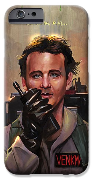 Celebrities Art iPhone Cases - First Encounter iPhone Case by Steve Goad