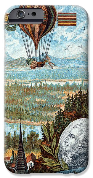 Personalities Photographs iPhone Cases - First Flight With Dirigible Balloon iPhone Case by Science Source