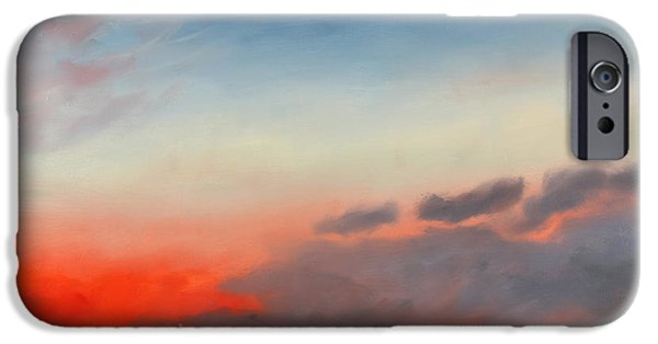 Inauguration Paintings iPhone Cases - First Inaugural Sunrise from Lee - Custis Mansion iPhone Case by William Van Doren