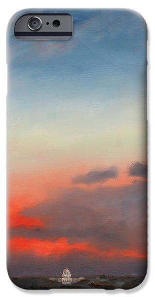 First Inaugural Sunrise from Lee - Custis Mansion iPhone Case by William Van Doren