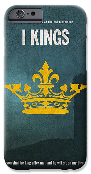 Bible Mixed Media iPhone Cases - First Kings Books Of The Bible Series Old Testament Minimal Poster Art Number 11 iPhone Case by Design Turnpike