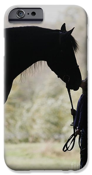 Little Girl iPhone Cases - First Kiss iPhone Case by Carol Lynn Coronios