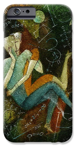 Intimacy iPhone Cases - First Kiss iPhone Case by Leon Zernitsky