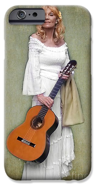 First Lady iPhone Cases - First Lady of Guitar iPhone Case by Barbara McMahon