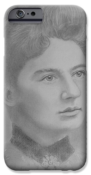 First Lady Portrait Drawings iPhone Cases - First Lady Of The United States iPhone Case by Paul Blackmore