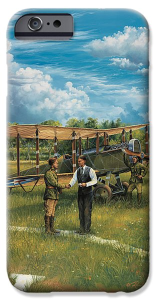 Wwi iPhone Cases - First Landing At Shepherds Field iPhone Case by Randy Green