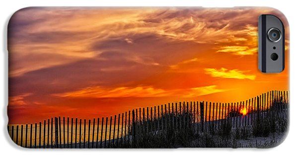 Scenery iPhone Cases - First Light At Cape Cod Beach  iPhone Case by Susan Candelario