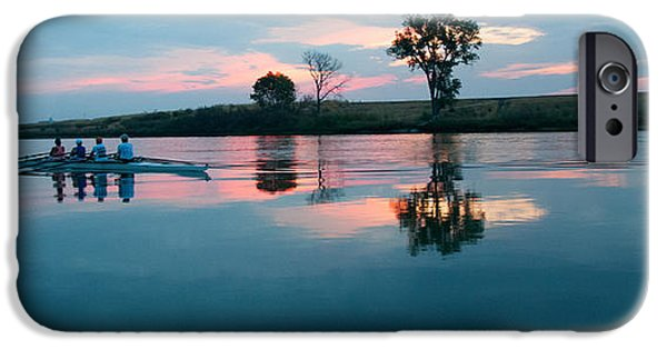 Morning iPhone Cases - First Light on the River iPhone Case by Kent Sorensen