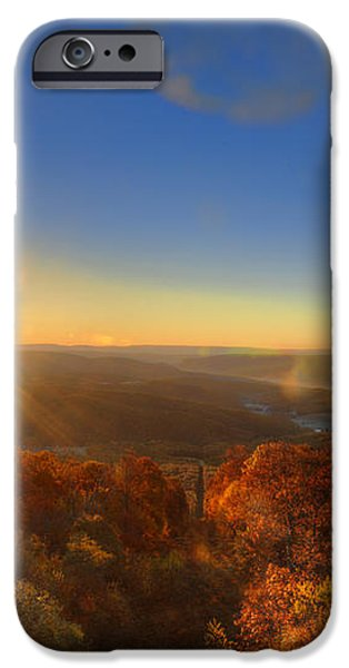 First morning light striking top of trees iPhone Case by Dan Friend