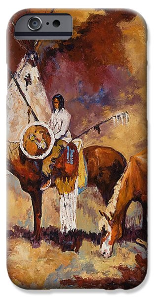 Loose Style Paintings iPhone Cases - First Nation iPhone Case by LC Herst