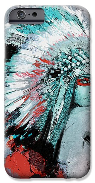 Confederacy iPhone Cases - First Nations 005 C iPhone Case by Corporate Art Task Force