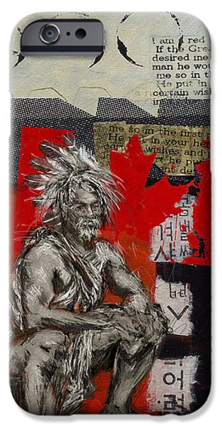 Nation iPhone Cases - First Nations 14 iPhone Case by Corporate Art Task Force