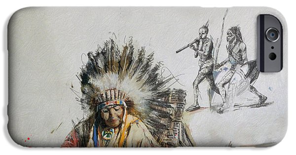 Confederacy iPhone Cases - First Nations 16 iPhone Case by Corporate Art Task Force