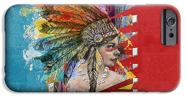 Nation iPhone Cases - First Nations 31 iPhone Case by Corporate Art Task Force