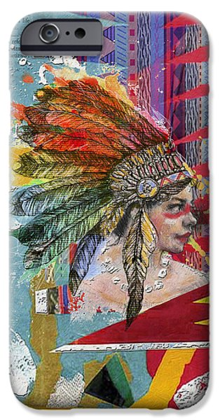 Confederacy iPhone Cases - First Nations 32 B iPhone Case by Corporate Art Task Force