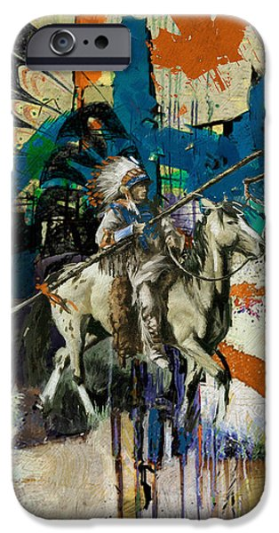 Nation iPhone Cases - First Nations 35 iPhone Case by Corporate Art Task Force