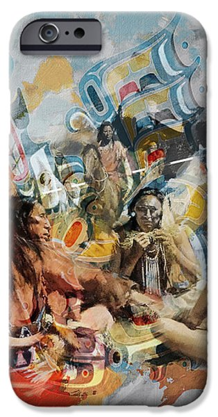 Confederacy iPhone Cases - First Nations 42 iPhone Case by Corporate Art Task Force