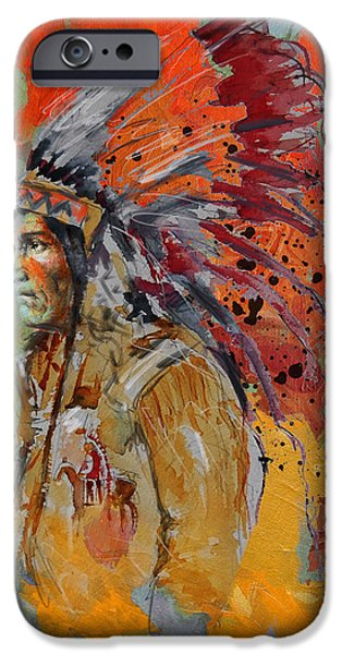 Confederacy iPhone Cases - First Nations 9 B iPhone Case by Corporate Art Task Force
