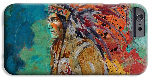 Confederacy iPhone Cases - First Nations 9 iPhone Case by Corporate Art Task Force