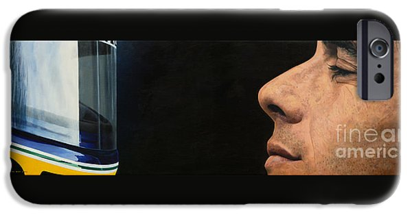 Ayrton Senna iPhone Cases - First of May iPhone Case by Oleg Konin