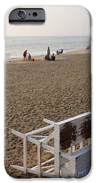 Best Sellers -  - Sand Castles iPhone Cases - First on the Beach at Bethany Beach in Delaware iPhone Case by William Kuta