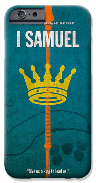 Bible Mixed Media iPhone Cases - First Samuel Books of the Bible Series Old Testament Minimal Poster Art Number 9 iPhone Case by Design Turnpike