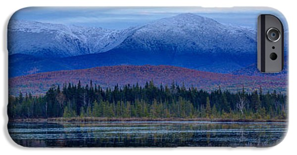 New England Snow Scene iPhone Cases - First Snow from Cherry Pond iPhone Case by Christopher Whiton