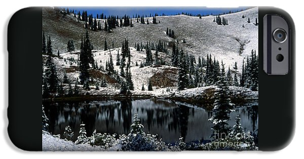 States iPhone Cases - First Snow in Bear Park #1 iPhone Case by Rich Trinter