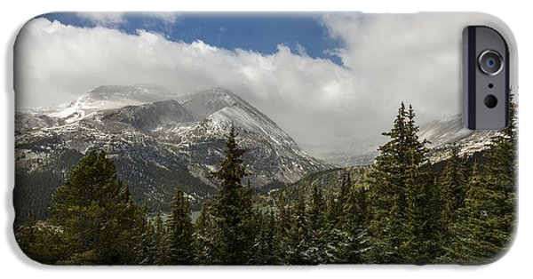 Winter Scene iPhone Cases - First Snow On Mount Lincoln - Colorado iPhone Case by Brian Harig