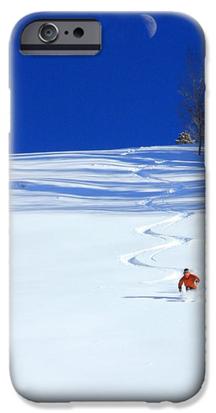 First Tracks iPhone Case by Johnny Adolphson