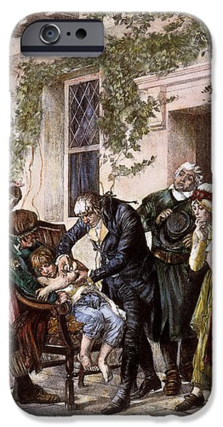 1796 iPhone Cases - First Vaccination, 1796 iPhone Case by Granger