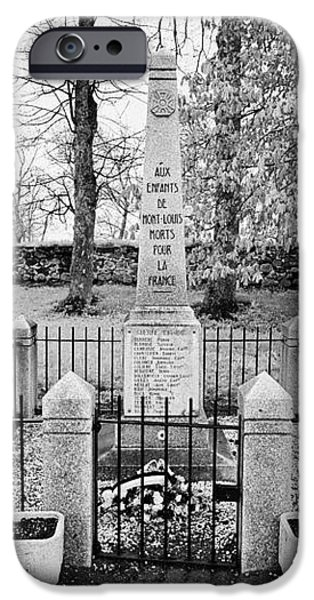 first world war memorial french mont-louis pyrenees-orientales france iPhone Case by Joe Fox
