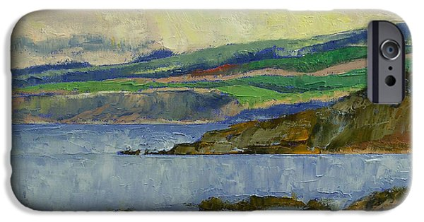 Michael Paintings iPhone Cases - Firth of Clyde iPhone Case by Michael Creese