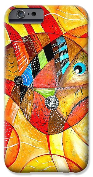 Recently Sold -  - Concept Paintings iPhone Cases - Fish 716-14 marucii iPhone Case by Marek Lutek