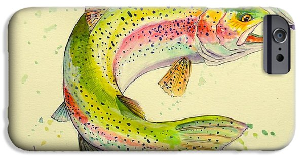 """rainbow Trout"" iPhone Cases - Fish after Dragon iPhone Case by Yusniel Santos"