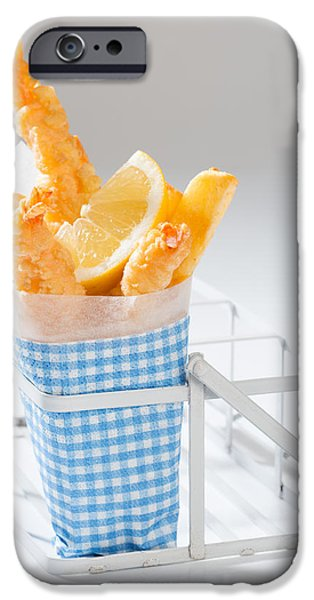 Fast Food iPhone Cases - Fish And Chips iPhone Case by Amanda And Christopher Elwell