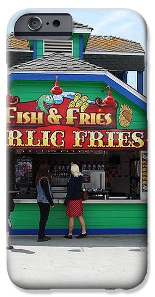 Fish And Fries At The Santa Cruz Beach Boardwalk California 5D23687 iPhone Case by Wingsdomain Art and Photography