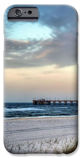 Beach At Night iPhone Cases - Fish Gulf Shores iPhone Case by JC Findley
