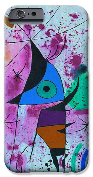 Free Form Paintings iPhone Cases - Fish iPhone Case by Jamie Frier