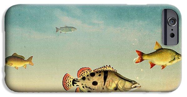 Animation iPhone Cases - Fish Life  iPhone Case by Mark Ashkenazi