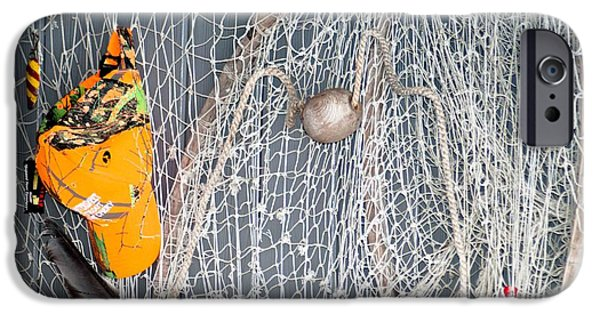 Netting Mixed Media iPhone Cases - Fish nets iPhone Case by Optical Playground By MP Ray