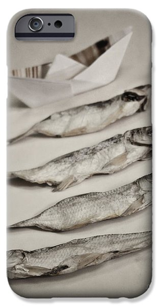 Still Life iPhone Cases - Fish out of water iPhone Case by Diana Kraleva