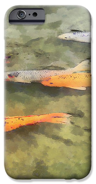 Fish - School of Koi iPhone Case by Susan Savad